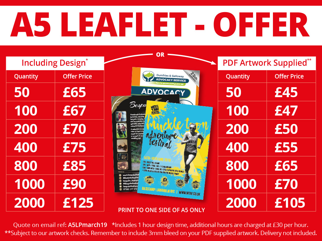 solway-print-A5-leaflet-print-march-deal