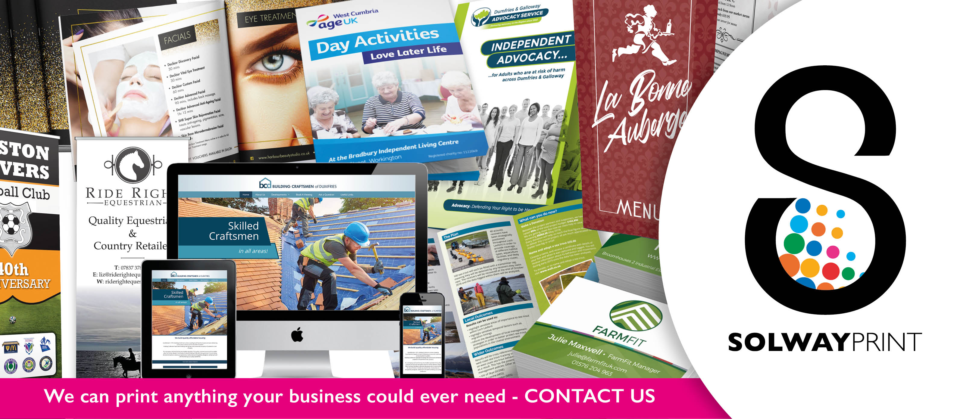 Solway Print can print anything your business could ever need.