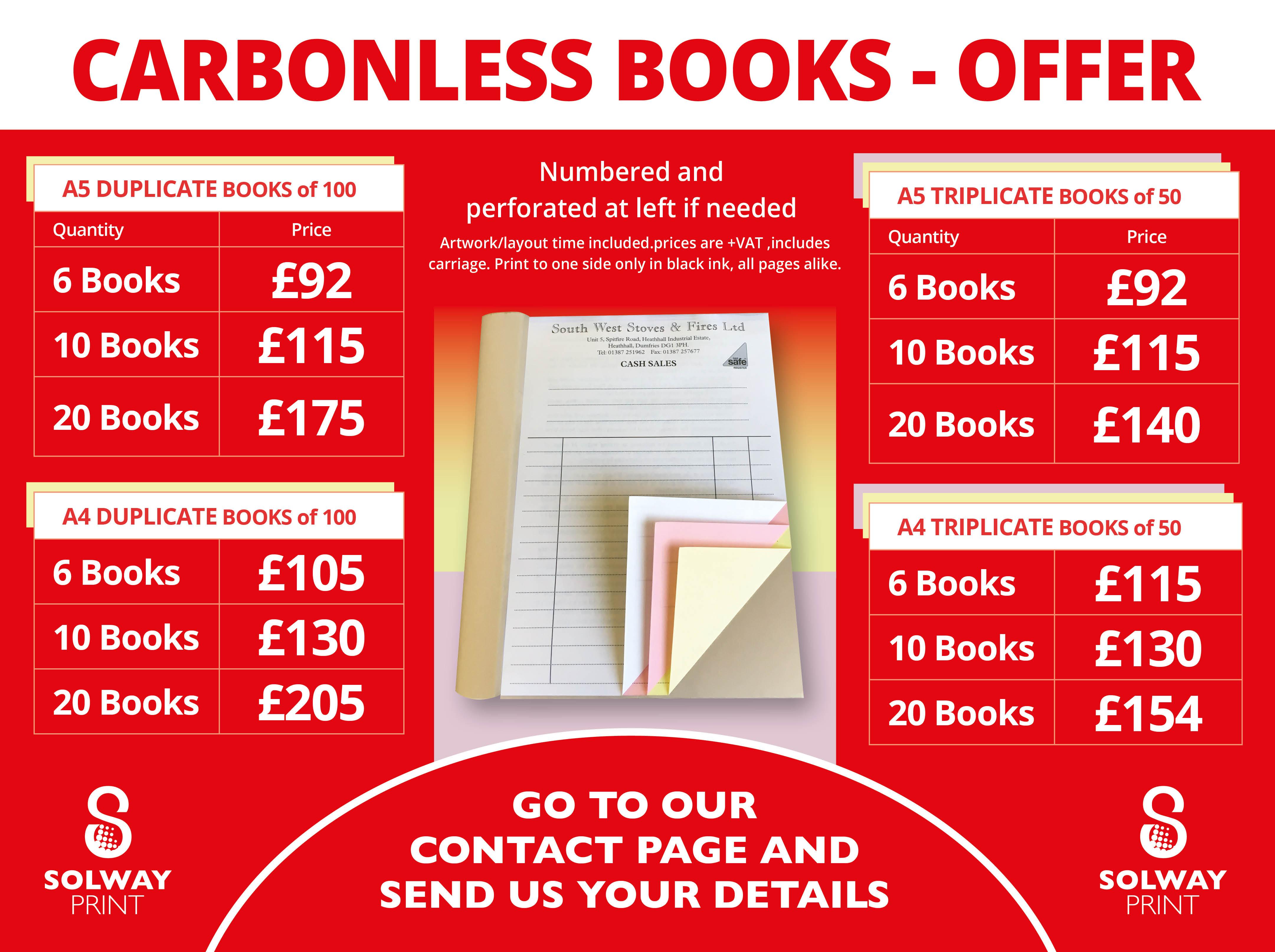 NCR Carbonless Books Offer